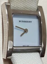 Burberry Watch BU4312 01957  30M/100 Feet Swiss Made Canvas Strap Runs Great