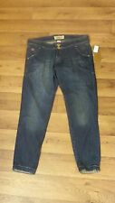 NWT Mecca Femme Wmn's 11/12 Low Whisker Stretch 4 Pkt Ankle Skinny Jeans 34x27