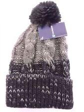 Bonnets grises en acrylique taille unique pour homme