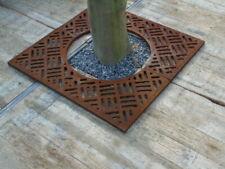 plaque de sol ,grille de contour d arbre en fonte carré , nouveau !