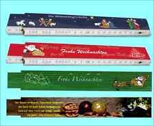 4 Stk. Gliedermaßstäbe Weihnachten mit unterschiedlichen Motiven