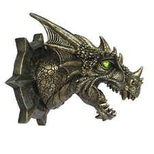 """New - Dragon Wall Plaque with Lighted Led Eyes - 8"""""""