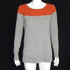 CLUB MONACO Cashmere Sweater Orange Gray Long Sleeve Women's Medium - INV 11771