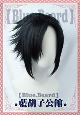 NARUTO Uchiha Sasuke Black Anime Cosplay Costume Wig +Free CAP