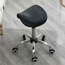 Massage Adjustable Salon Stool Swivel Rolling Saddle Chair Spa Massage - Gray