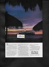 SITMAR CRUISES TO MEXICO 1981 T.S.S. FAIRSEA AT SUNSET PALAPA BEACH MEXICO AD