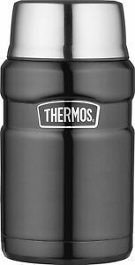 Thermos Stainless King Food Flask Gun Metal 710ml
