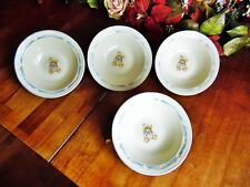 """4 NEW OTHER(old stock) TIENSHAN COUNTRY BEAR SOUP CEREAL PASTA BOWLS 7""""R X 2""""H"""