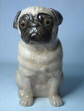 "Quail Ceramics FAWN PUG DOG FLOWER VASE 8.7"" 22cm TALL"