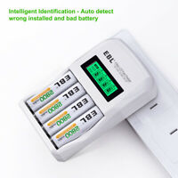 4 Slots LCD Individual Fast Charger for AA AAA Ni-MH Ni-Cd Rechargeable Battery