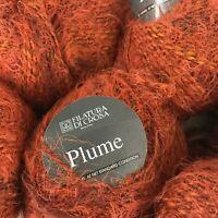 Lot 12 50g Skeins FILATURA DI CROSA PLUME Wool Blend Yarn Burnt Orange Italy