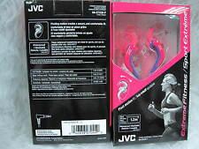 JVC HA-ETX30 Extreme Sport Inner Ear Waterproof Washable Headphones Pink Purple