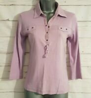 GERRY WEBBER Size 12 Top LILAC PURPLE Fitted Stretch VGC Women's Ladies Casual