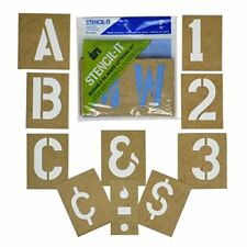 Large Alphabet Stencils Letters 3