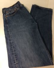 Levi Strauss Levis 501 Jeans W32 L34 Button Fly Straight Leg Cotton Mid Blue VGC