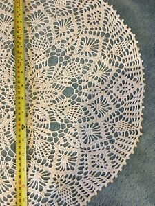 Stunner Real Handmade Crochet Tablecloth-Doily, Round,48 cm, 100% Cotton.
