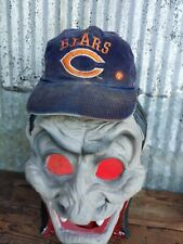 Vintage Navy Corduroy Chicago Bears Hat NFL Football Worn Distressed Shell Oil
