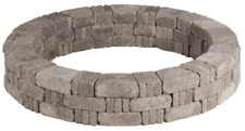 "59.2"" Greystone RumbleStone Tree Ring Kit Concrete Edging Visual Barrier No-Cut"