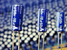 (25) NICHICON UVX1H100MDA 10uF 50V 85°C RADIAL ALUMINUM ELECTROLYTIC CAPACITOR