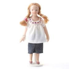 """Sa-Dollshouse DP125 """" Bambina Moderno Con Jeans """" Bambola 1:12 per Casa Delle"""
