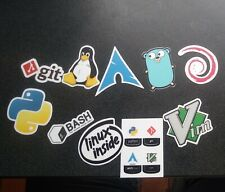 13 Vinyl Cut Programmers Developers Stickers Laptop Linux Bash Vim Python Git