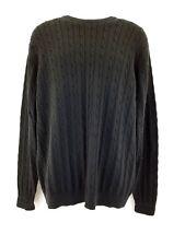 RARE Trump Golf Club Donald J Signature Sweater L MEGA Cable knit black
