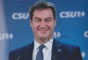MARKUS SÖDER CSU BRD Bayern Foto 20x30 Autogramm original signiert IN PERSON RAR