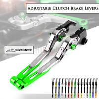 CNC Adjustable Folding Extendable Brake Clutch Levers For KAWASAKI Z900 17-19
