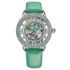 Stuhrling 3941 3 Winchester Automatic Skeleton Crystal Accented Womens Watch