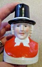 W H Goss tiny souvenir china milk jug - figure in Welsh national dress VGC