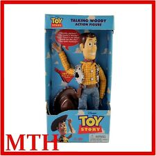 "TOY STORY TALKING WOODY 1ST EDITION 1995/1996 11"" PUSH BUTTON THINKWAY - NEW"