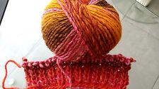 600g WEST LUXE von Lang Yarns Rot Gold Orange Wolle MERINO NATUR UVP 71,40 €