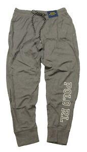 Polo Ralph Lauren Men's Grey Heather Solid Polo Graphic Print Sleep Jogger Pants