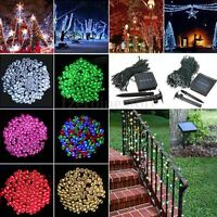 100/200/300/400/500M LED Solar Power Garden Christmas Party Fairy String Lights