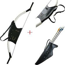 Archery 50Lb Mongolian Longbow Recurve Bow & Arrow Quiver Holder Recurve Bow Bag