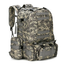 55L Molle Outdoor Military Tactical ACU Bag Camping Hiking Trekking Backpack