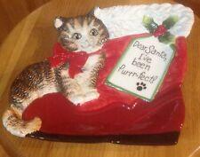 L@@K FRITZ & FLOYD CAT CHRISTMAS PLATE NB