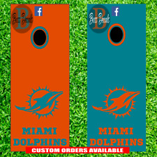 Miami Dolphins Cornhole Set of 6 Vinyl Decal Stickers Bean Bag Toss Tailgate nfl