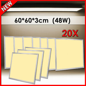 20X 48W LED Panel 60x60cm Neutralweiß Badewanne Einbaustrahler Pendelleuchte HOT