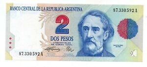 ARGENTINA NOTE 1994 2 PESOS CONVERTIBLES Serie A P#340b  B#3015 - UNC
