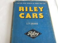 Riley Cars by S F Drake - First Edition Hardback 1958