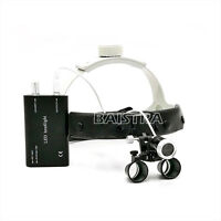 1 Kit Dental Headband 3.5 X Binocular Loupes Magnifier + LED Headlight Lamp