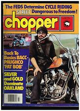 STREET CHOPPER JULY 1980 CONTENT BAY AREA DIGGER STYLE CUSTOM STREET CHOPPERS