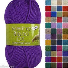 King Cole Merino Blend DK 100% Superwash Wool 50g Balls. Quick Dispatch