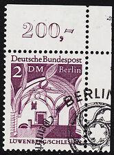 ❷❷  Berlin 285 ESST mit Gummi Ecke 2 Eckrand 2 oben rechts OR gesempelt