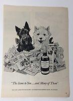 Original Print Ad 1952 BLACK & WHITE Scotch Christmas Cards Full Page Artwork