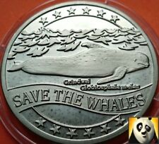 1995 WWF Long-Finned Pilot Whale Ecu for Nature Coin Medal Crown Size