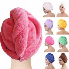 NEW QUICK DRY MAGIC HAIR TURBAN TOWEL MICROFIBRE HAIR WRAP BATH TOWEL CAP HAT