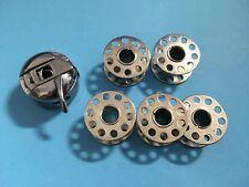 CB Spulenkapsel + 5 Spulen für viele Haushalt Nähmaschinen, Pfaff,AEG, Bernina