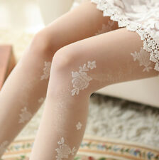 Japanese Sweet Lolita Vintage Rose Embroidery Cute Stocking Pantyhose Tights